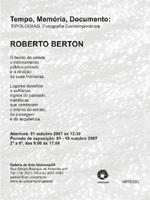 foto convite exposição Roberto Berton