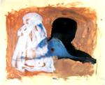 Marcio Périgo. s/ título. Aquarela, carvão e guache sobre papel.
