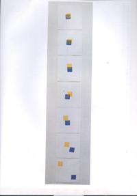 Serena Labate - Homenagem a Josef e Annie Albers_ Gravura em Metal_ 12,8x94cm 2012